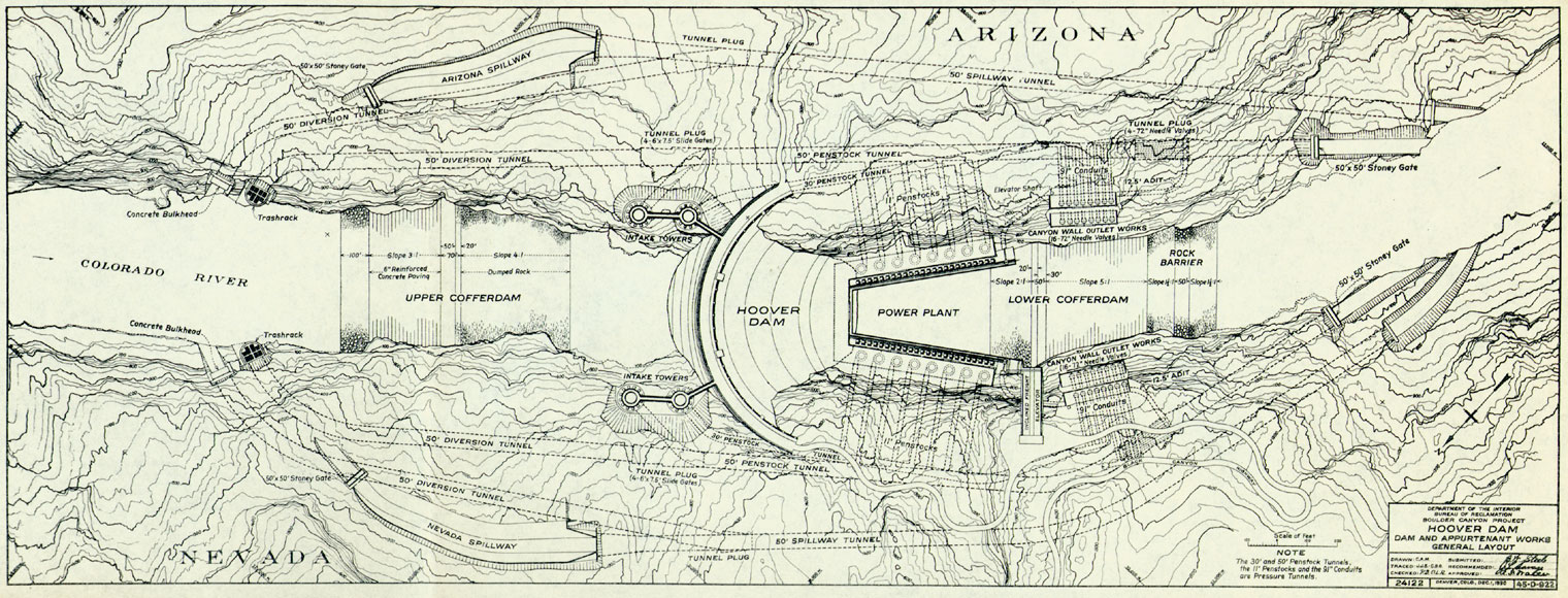 Hoover Dam And The Shaping Of The American West - Hoover-dam-on-us-map